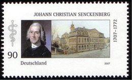ALLEMAGNE ALEMANIA GERMANY DEUTSCHLAND BUND 2007 JOHANN CHRISTIAN SENCKENBERG MNH MI 2588 YT 2414 SC 2430 SG 3465 - Ungebraucht