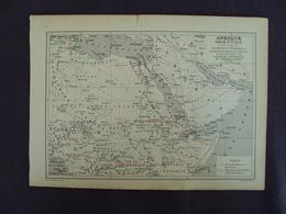 """FRANCE - Début  1900 Environ -carte Du Monde Issue  D'un Album De Timbre """" AFRIQUE  ORIENTALE   """"  En état - Net 2 Euros - Cartes Géographiques"""