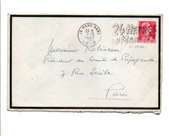 OBLITERATION MECANIQUE 24 HEURES DU MANS 1957 - 1921-1960: Période Moderne