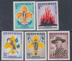 Guatemala PA N° 339 / 43 XX : 5è Conférence Régionale Scoute à Guatemala, Les 5 Vals Sans Charnière Sinon TB - Guatemala