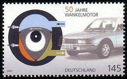 ALLEMAGNE ALEMANIA GERMANY DEUTSCHLAND BUND 2007 WANKEL ENGINE MNH MI 2582 YT 2408 SC 2429 SG 3461 - Ungebraucht