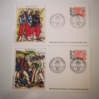 FRANCE FDC 2 Enveloppes 1er Jour NUMISMATIQUE Série LEGION ETRANGERE 1984 - Collection Timbre Poste - FDC