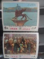 IRAN 1974 Y&T N° 1554 & 1555 ** - SAUVEGARDE DE VENISE - Iran