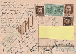 Cartolina Postale  - Postcard /   Viaggiata Raccomandata Espresso - Vinceremo  Usata 25/08/1944 - 1900-44 Vittorio Emanuele III