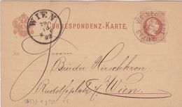 1892 Austria  2 Kr Brown PS Postcard Neustadt Cover To Vienna - Entiers Postaux