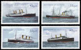 ALLEMAGNE ALEMANIA GERMANY DEUTSCHLAND BUND 2010 SHIPS SET 4V. MNH MI 2809-12 YT 2634-37 SC B1036-39 SG 3667-70 - Unused Stamps