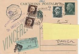 Cartolina Postale  - Postcard /   Viaggiata Raccomandata -  Vinceremo C. 97 Usata Il 26/07/1944 - 1900-44 Vittorio Emanuele III