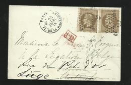étoiles De Paris : étoile N°3 Sur Lettre Pl De La Madeleine - Marcophilie (Timbres Détachés)