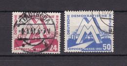 DDR - 1951 - Michel Nr. 282/283 - Gest. - 45 Euro - Gebraucht