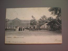 CHARLEROI - LA PASSERELLE ET LA GARE 1908 - DE GRAEVE NO 1805 - Charleroi