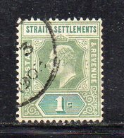 XP2996 - STRAITS SETTLEMENTS MALACCA 1902, Yvert N. 79 Usato  (2380A) Fil CA - Straits Settlements