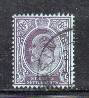 XP2998 - STRAITS SETTLEMENTS MALACCA 1904, Yvert N. 95 Usato  (2380A) Fil CA - Straits Settlements