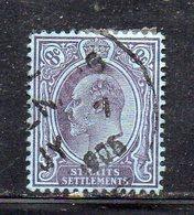 XP2989 - STRAITS SETTLEMENTS MALACCA 1904, Yvert N. 95 Usato  (2380A) Fil CA - Straits Settlements