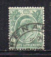 XP3006 - STRAITS SETTLEMENTS MALACCA 1905, Yvert N. 95 Usato  (2380A) Fil MultiCA - Straits Settlements