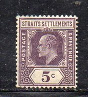 XP2896 - STRAITS SETTLEMENTS MALACCA 1907 , Yvert N. 124  *  Linguella  (2380A) Fil MultiCA - Straits Settlements