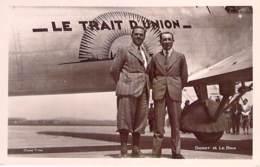 AVIATION Avion MILITARIA (entre 2 Guerres 1919-38) TRAIT D'UNION - DORET / LE BRIX Recorman Monde 10.500 Km ... CPSM PF - 1919-1938: Entre Guerres