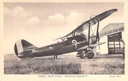 AVIATION Avion MILITARIA (entre 2 Guerres 1919-38)  AVION BREGUET - BIDON (Paris New York) 650 CV - CPSM Sépia PF - 1919-1938: Entre Guerres
