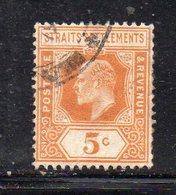 XP2897 - STRAITS SETTLEMENTS MALACCA 1907 , Yvert N. 125  Usato  (2380A) Fil MultiCA - Straits Settlements
