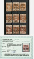 FIUME -1920. - Sassone 136 ,138 And 141  - All OCHRE Colours UNLISTED - Certified- ANGELUS2 - ONLY ORIGINAL STAMPS - Fiume