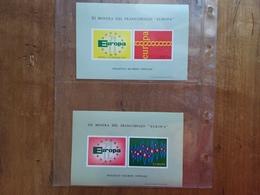 REPUBBLICA - Europa 71 E Europa 72 - Foglietti Ricordo Ufficiali Nuovi ** + Spese Postali - Blocchi & Foglietti