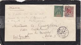 LETTRE DE DEUIL. MADAGASCAR-84. 9 OCTOBRE 1916. AVEC DES TIMBRES D'ANJOUAN ET DE MAYOTTE. 15c POUR LA FRANCE - Madagascar (1889-1960)