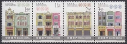Macau MiNr. 1072/75 ** Registrierte Kulturdenkmäler Im 4er Streifen - 1999-... Sonderverwaltungszone Der China