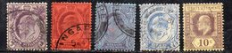 XP3151 - STRAITS SETTLEMENTS MALACCA 1905 ,  5 Esemplari Usati (2380A) Fil MultiCA - Straits Settlements