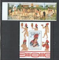 D250 1989 ANTIGUA & BARBUDA SOCIETIES & THEIR CUSTOMS MICHEL 11 EU BL+SET MNH - Other