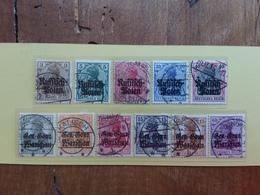 POLONIA - Occupazioni Tedesche 1915/18 - 11 Francobolli Differenti Timbrati + Spese Postali - ....-1919 Governo Provvisiorio