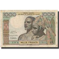Billet, West African States, 1000 Francs, Undated (1959-65), KM:103Aa, TB+ - États D'Afrique De L'Ouest