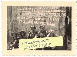 INDOCHINE GUERRE VIETNAM COCHINCHINE VERITABLE PHOTO DENTELEE PROPAGANDE COMMUNISTE VIÊT MINH VIÊTMINH GARE TUY HOA VIOL - War, Military