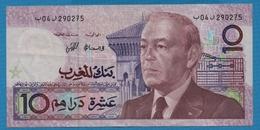 MAROC 10 Dirhams 1987 P# 63aRoi Hassan II - Marruecos