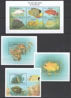 A072 ERITREA FAUNA MARINE LIFE FISH & CORAL REEFS OF THE RED SEA !!! KB+3BL MNH - Meereswelt