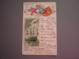ENGLAND - NELSON - H.M.S. VICTORY - LITHO 1900 - England