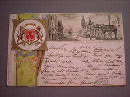 ABERDEEN - MUNICIPAL BUILDINGS AND MARKET CROSS - LITHO 1901 - Aberdeenshire