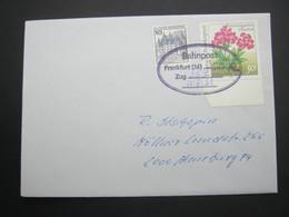 1991 , Bahnpost:   Frankfurt  , Klarer   Stempel Auf Brief - [7] República Federal