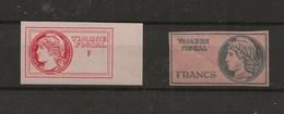 FISCAUX FRANCE FICTIF ECOLE A DETERMINER - Revenue Stamps
