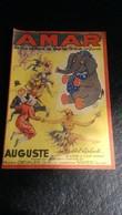 Programme Cirque Amar Année 1938 - Programs