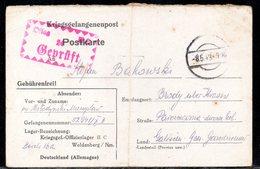 KRIEGSGEFANGENENPOST NAZI GERMANY THIRD REICH WW2 PRISONER OF WAR POW CAMP OFLAG IIC WOLDENBERG DOBIEGNIEW - GALIZIEN GG - Gevangenkampen