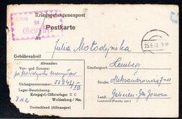KRIEGSGEFANGENENPOST NAZI GERMANY THIRD REICH WW2 PRISONER OF WAR POW CAMP OFLAG IIC WOLDENBERG DOBIEGNIEW TO LVIV GG - Brieven En Documenten
