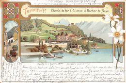 Territet Chemin De Fer à Glion Et Le Rocher De Naye - Narcisses  - Litho - VD Vaud