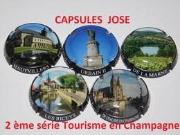 2 ème Série De 5 Capsules De Champagne - GENERIQUE (Tourisme En Champagne) - Colecciones