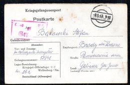 KRIEGSGEFANGENENPOST NAZI GERMANY THIRD REICH WW2 PRISONER OF WAR POW CAMP OFLAG IIC WOLDENBERG DOBIEGNIEW - GALIZIEN GG - Brieven En Documenten