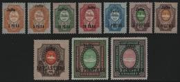 """Russia / Levante 1909 - Mi-Nr. 39-47 IV A & B * - MH - """"Jaffa"""" (II) - Levante"""