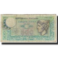 Billet, Italie, 500 Lire, KM:94, B - [ 2] 1946-… : Républic