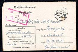 KRIEGSGEFANGENENPOST NAZI GERMANY THIRD REICH WW2 PRISONER OF WAR POW CAMP OFLAG IIC WOLDENBERG DOBIEGNIEW SANDOMIERZ GG - Brieven En Documenten