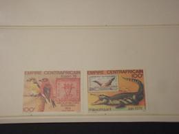 CENTRAFRICAINE - P.A. 1978 ANIMALI 2 VALORI - NUOVI (++) - Repubblica Centroafricana