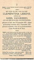 Souvenir Mortuaire LIEKENS Clementina (1875-1932) Wwe VANGRIEKEN, K. Geboren En Overleden Te GEEL - Imágenes Religiosas
