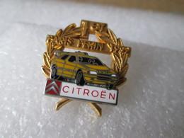 PIN'S  CITROEN   ZX  RALLYE RAID  PARIS PEKIN  92  Arthus  Bertrand Double Moule - Citroën
