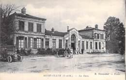 77 -MITRY CLAYE ( Cne MITRY MORY) La Gare ( SNCF ) Attelage Automobile En 1e Plan  - CPA  - Seine Et Marne - Mitry Mory